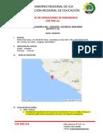 Formato Reporte Situación Coe Ugel