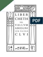 Crowley - Liber Cheth vel Vallum Abiegni sub figurâ CLVI