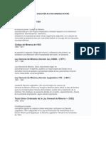 Evolución de Leyes Mineras en Perú