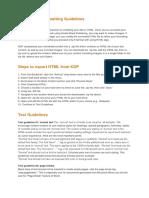 Basic HTML Formatting Guidelines