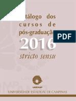 Catálogo Dos Cursos de Pós