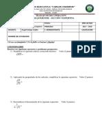 Matemática Noveno 3P