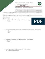 Matemática Noveno I 3P