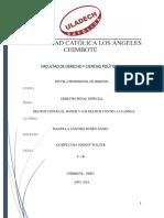 Investigación Formativa Delitos Contra El Honor y Los Delitos Contra La Familia