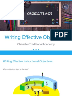 objective slideshow presentation