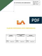 L&a-PRO-001-Plan de Contingencia Ante Emergencias