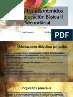 Presentación Propósitos y contenidos de educación secundaria