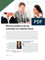 Efectos Jurídicos de Los Contratos en Materia Fiscal