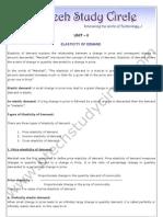 Unit-2_elasticity of Demand