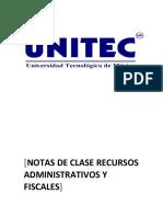 Notas de Clase Recursos AdmInistrativos y Fiscales