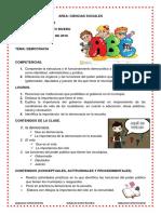 Planificación de clases de  Sociales
