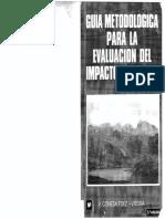 Guía Metodológica Para La Evaluación Del Impacto Ambiental - Conesa Fdez - Vítora