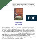 El Bestiario de Cristo (Vol 1) El Simbolismo Animal en La Antig ÜEdad Y en La Edad Media