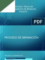 Procesos Físicos de Tratamiento de RS