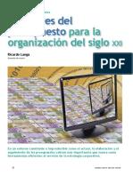 30langa - Las Claves Del Presupuesto Para La Organizacion Del Siglo Xxi