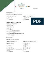 Math SL Excercices 4R