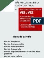 Problemas de Redaccion Parrafo