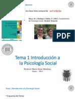Tema 1 Introducción a La Psicología Social (Diapositivas)