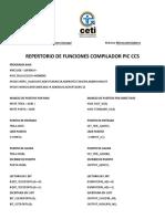 Repertorio de Funciones Compilador Pic Ccs (Actual)