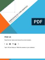 Exercícios do livro didático das páginas 16 a 20.