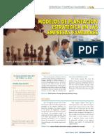 Modelos de Planificación Estratégica en e.f