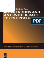 (Studies in Ancient Near Eastern Records 4) Gregorio del Olmo Lete, Ignacio Márquez Rowe-Incantations and Anti-Witchcraft Texts from Ugarit-Walter de Gruyter (2014)