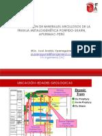 Identificación de Minerales Arcillosos de La Franja Metalogenética Porfido-skarn, Apurimac-Perú
