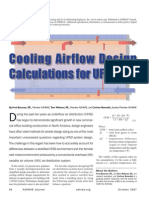 UFAD Airflow Design Calculation
