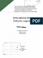 La Dolarización en Ecuador Informe Económico