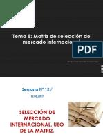 Semana 07 Matriz de Seleccion de Mercado Intenacional
