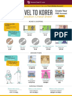 Travel Cheat Sheet Hangul!