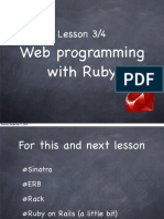Ruby Course - Lesson 3 and 4 - Web Programming With Ruby