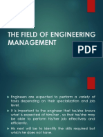 The Field of Engineering Management