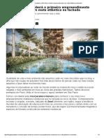 Blog Da Arquitetura _ São Paulo Receberá Empreendimento Com Mata Atlântica Na Fachada