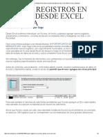 Añadir Registros en Access Desde Excel Con Vba _ Excel Signum