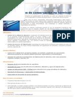 Procesos de conservación térmica