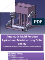 Automatic Multi Purpose Agricultural Machine Using Solar Energy