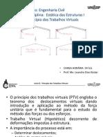 AULA 02 - ESTATICA 1 - Princípio Dos Trabalhos Virtuais