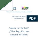 Canasta Escolar 2018 Cla Susula Gatillo Para Comprar Los u Tiles 2