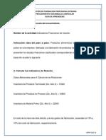 3. Actividad 3  CÁLCULO E INTERPRETACION DE INDICADORES FINANCIEROS