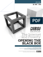 The Internet and Poverty  OPENING THE BLACK BOX