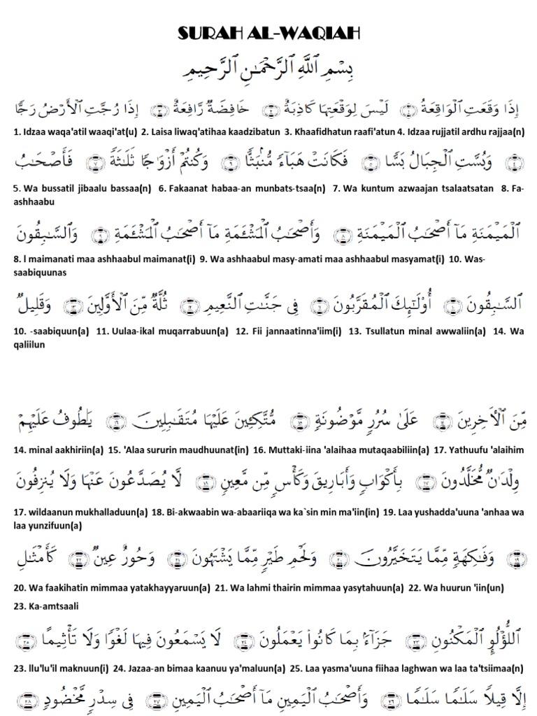 Al Waqiah Pdf