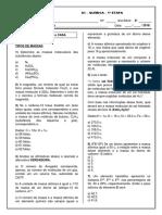 Marista - Química - 2ª Série - 1ª Etapa - Atividade 1 - Tipos de Massas