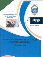 Mv3.Manual Del Usuario Del Sistema de Matrícula en Linea