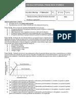 Avaliação Diagnóstica Ciências 8 EF - 2018