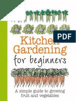 kitchen gardening for beginner