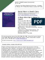 Artigo. a Body-Mind-Spirit Model in Health