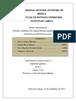 Estudio cualitativo del comportamiento químico de algunas sustancias en disolución acuosa. Facultad de Estudios Superiores Cuautilán
