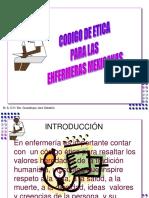 CODIGO DE ETICA PARA ENFERMERAS
