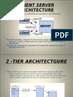 Client Server Architecture for DOT NET
